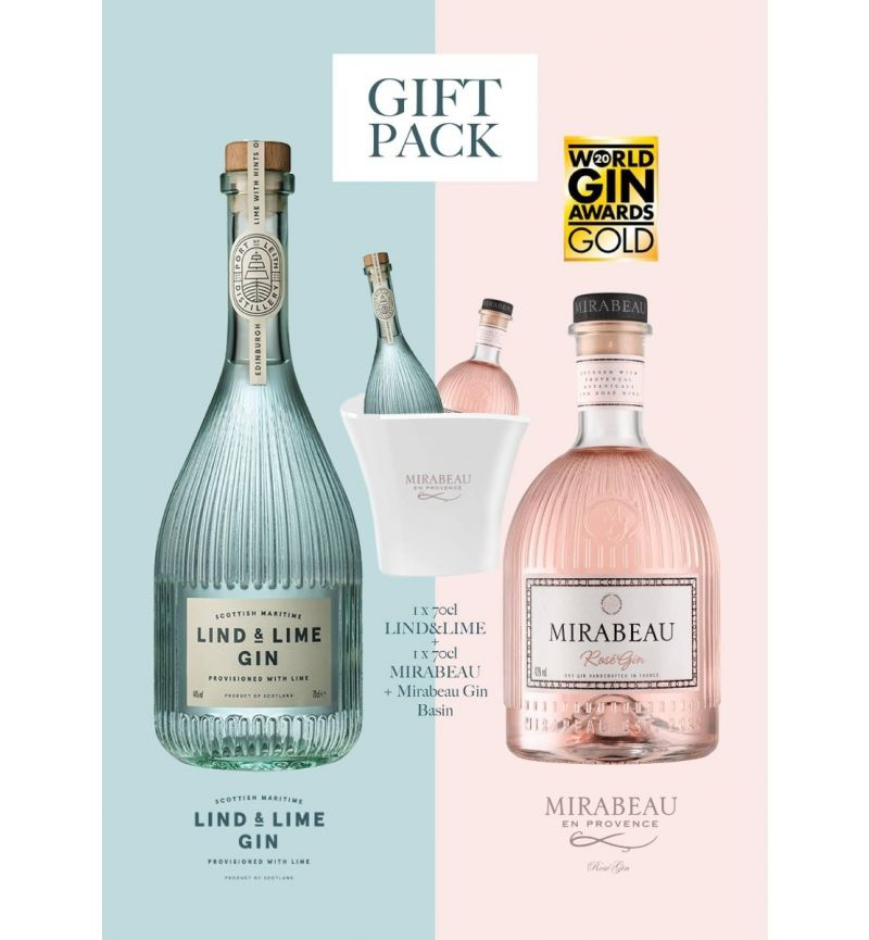 Giftbox Mirabeau - Lind&Lime Gin in Bucket