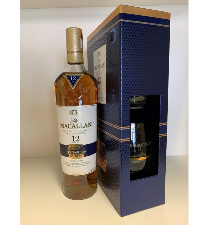 The Macallan 12Y Double Cask SM Scotch Whisky 40°/700ml + glasses